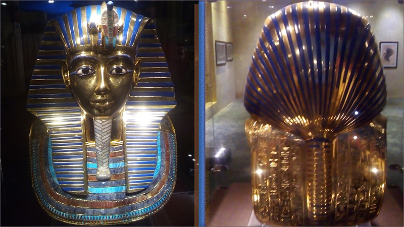golden mask of a sphinx.